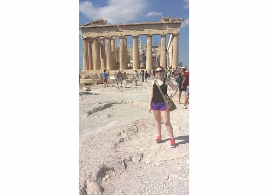 in front of parthenon